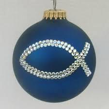 christian ornaments ichthus ornament tree
