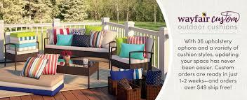 Custom Patio Chair Cushions Wayfair Custom Outdoor Cushions Wayfair