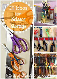 Storage Ideas For Craft Room - craftaholics anonymous scissor storage ideas