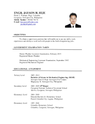 Philippine Resume Format Download Updated Resume Haadyaooverbayresort Com