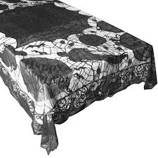 halloween table cover gothic black lace bat spider web table cloth cover topper