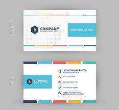 colors business cards free creating