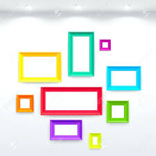 wall ideas white modern frames on the wall vector illustration