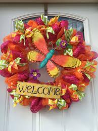 wreath ideas summer dragonfly deco mesh wreath wreaths wreaths