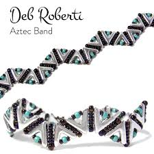 aztec band free pattern that uses the new ava beads deb