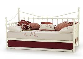 gorgeous serene marseilles 3ft single ivory metal day bed frame