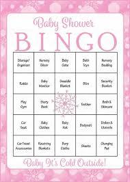 baby shower bingo winter baby shower for girl baby bingo celebrate