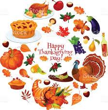 thanksgiving happyving day sticker emblem vector