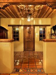 mexican themed home decor photos hgtv spanish hacienda style foyer with terra cotta tile