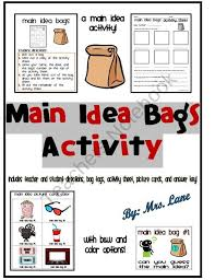 main idea bags activity includes 23 different bag themes