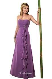 unique strapless sweetheart backless long chiffon bridesmaid dress