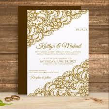vintage lace wedding invitations lace wedding invitation template 5 x 7 vintage lace gold glitter
