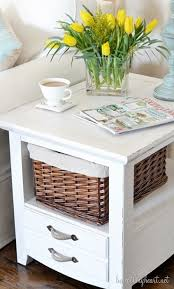 Chalk Paint Side Table Side Table Makeover With Chalk Finish Paint Beneath My Heart