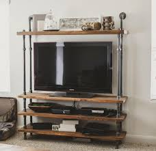 Diy Livingroom by Cool Diy Homemade Industrial Tv Stands Made From Wood And Pipe