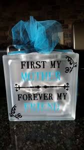 Mother s day glass block Crafts Pinterest