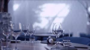 water glasses on table setting glass table setting dining table 4k stock video 860 923 351