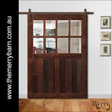 Reclaimed Barn Door Hardware by Reclaimed Australian Timber Barn Door With Glass We Ship