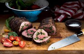 beef tenderloin menu dinner party a juicy tenderloin a pesto swirl the new york times