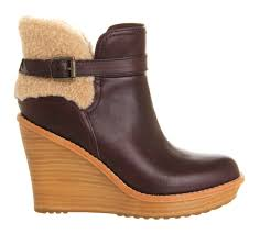 s heeled boots uk ugg s anais wedge boots chestnut mount mercy