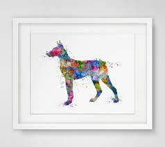 Hanging Art Online Shop Doberman Pinscher Dog Art Print Poster Doberman