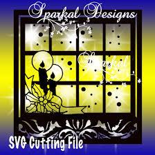 sparkal digital design christmas svg file winter scene cut file