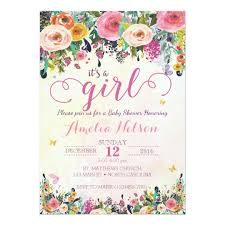 baby shower invitations it s a girl floral garden baby shower invitation zazzle