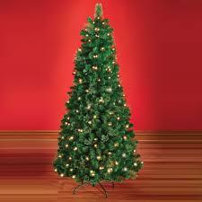 Pencil Christmas Tree Pre Lit Uk by Christmas Trees Hammacher Schlemmer