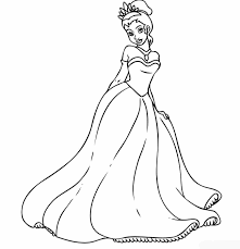 princess cinderella coloring pages ideas within princess tiana
