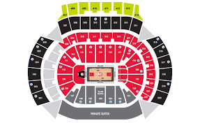 pepsi center floor plan seating map philips arena