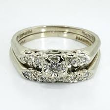 vintage wedding ring sets antique wedding rings sets vintge vintage wedding ring sets yellow