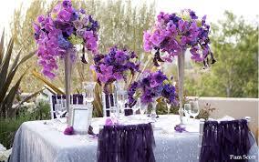 Purple Flowers Centerpieces by Romantic Purple Wedding Centerpieces Ipunya