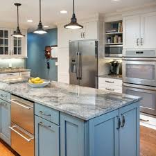 kitchens with different colored islands different color kitchen island decr 3c57616a5d68