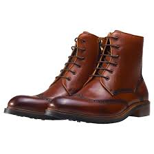 casual motorcycle boots nw1 london brogue details mens brown leather casual boots lace up