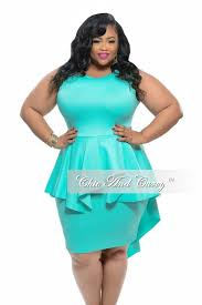 new plus size bodycon sleeveless dress with peplum tail in mint