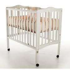 dream on me 2 in 1 lightweight portable folding crib white baby