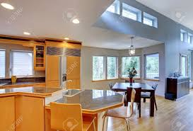 modern wood kitchen large luxury modern wood kitchen with granite counter tops and