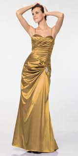 clearance plus size gold satin dress pleated bodice strapless