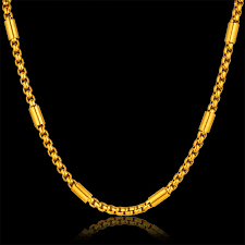 fashion chain necklace images Fashion stainless steel thick gold chain necklace male new 4 size jpg