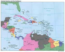 Map Curacao Maps Of North America And North American Countries Political