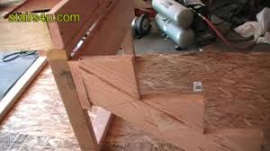 stringer and stair ledger attachment construction video tips