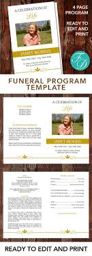 where to print funeral programs gold printable funeral program ready to edit print simply