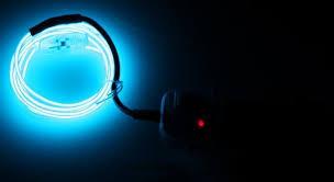 techno strobe el wire blue ravestuff glow sticks necklaces