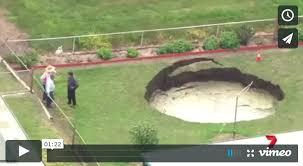 Sinkhole In Backyard Abroad A Massive Sinkhole In Backyard Is Growing By The Hour