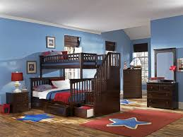 white twin over full bunk bed with stairs decor information