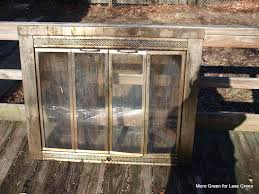 Cleaning Glass On Fireplace Doors by Refinishing The Fireplace