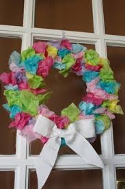 how to make easter wreaths tissue paper easter wreath for toddlers happy hooligans