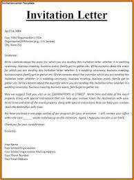 formal invitation letters