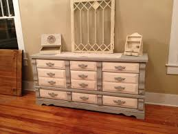Shabby Chic Salon Furniture by Grey And White Distressed Dresser 425 Shabby To Chic Salon