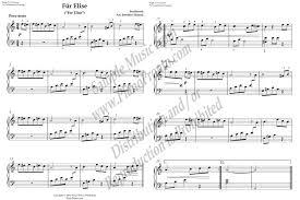fur elise original key simplified version sheet music piano