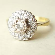 flower engagement ring vintage vintage flower ring cool cluster flower rings best